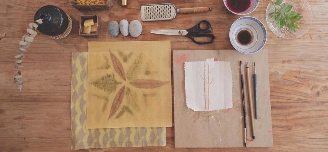 天然手作之旅 – 植物拓印蜜蠟布工作坊